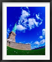 Framed Low angle view of a statue, Statue Of Liberty, Manhattan, Liberty Island, New York City, New York State, USA