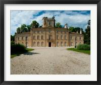 Framed Facade of a castle, Chateau d'Avignon, Saintes-Maries-De-La-Mer, Bouches-Du-Rhone, Provence-Alpes-Cote d'Azur, France