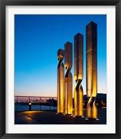 Framed Ricardo Bofill Sculptures at a Hotel, Barcelona, Catalonia, Spain