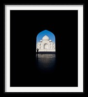 Framed Mausoleum viewed through an arch, Taj Mahal, Agra, Uttar Pradesh, India