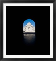 Framed Mausoleum viewed through an arch, Taj Mahal, Agra, Uttar Pradesh, India