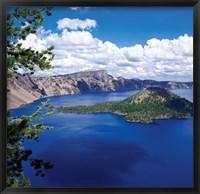 Framed Crater Lake at Crater Lake National Park, Oregon