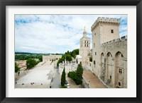 Framed Palace in a city, Notre-Dame Des Domes, Le Palais des Papes, Palais Des Papes,  Provence-Alpes-Cote d'Azur, France