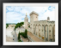 Framed Buildings in a city, Cathedrale Notre-Dame des Doms d'Avignon, Palais des Papes, Provence-Alpes-Cote d'Azur, France