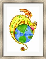 Framed Dreaming of Peace - Dragon