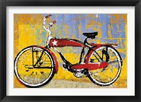 Framed Red Bike with Star