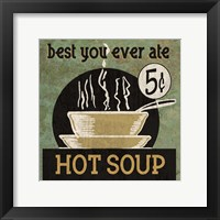 Hot Soup Framed Print