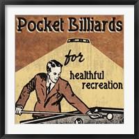 Framed Pocket Billiards