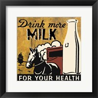 Drink more Milk Framed Print