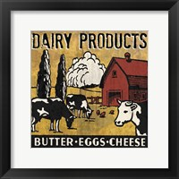 Dairy Products Framed Print