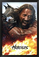 Framed Hercules - fire