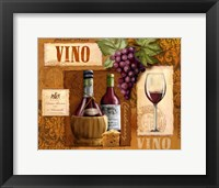 Vino Framed Print