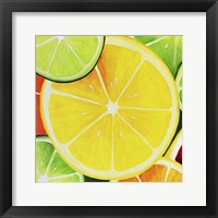 Sliced Lemon Framed Print