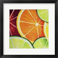 Sliced Orange Framed Print