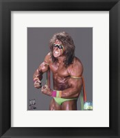 Framed Ultimate Warrior Posed