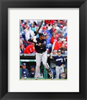 Framed Carlos Gomez 2014 Batting Action