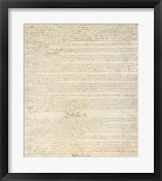 Framed Constitution of the United States I III