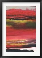 Framed Magenta Solstice II