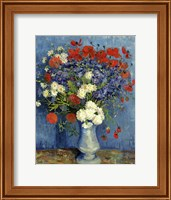 Framed Still Life: Vase with Cornflowers and Poppies, 1887