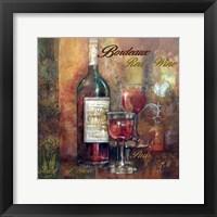 Framed Bordeaux Lettered