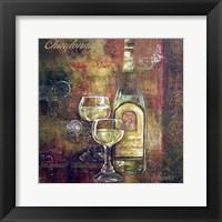 Framed Chardonnay Lettered