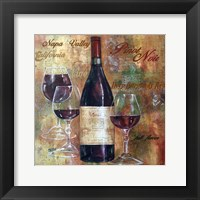 Framed Napa Valley Pinot Lettered