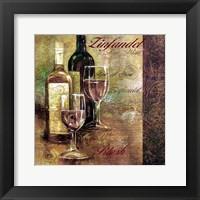 Framed Zinfandel Lettered