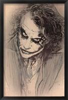 Framed Dark Knight - Sketch