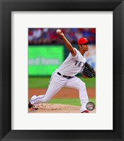 Framed Yu Darvish 2014 in Action