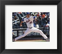 Framed Zack Wheeler Pitching Baseball