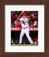 Framed David Freese 2014 batting