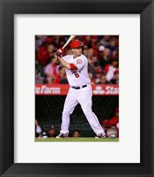 Framed David Freese 2014 batting
