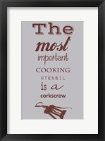 Framed Most Important Cooking Utensil