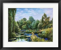 Framed Monet Garden I