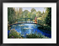 Framed Monet Garden II