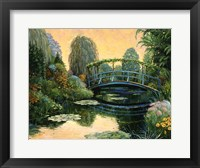 Framed Monet Garden III
