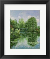 Framed Monet Garden IV