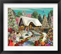 Framed Snowy Delight
