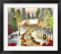 Framed Winter's Cottage