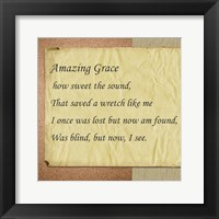 Framed Amazing Grace Parchment