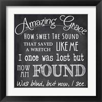 Framed Amazing Grace Chalkboard