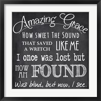 Framed Amazing Grace Chalkboard