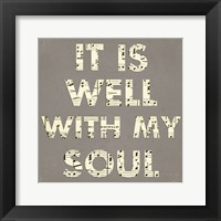 Framed It Is Well With My Soul - Gray