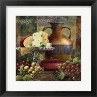 Cheese & Grapes II Framed Print