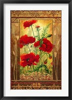Framed Poppy Field II In Frame