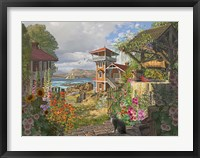 Framed Fishing Village