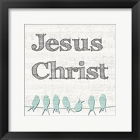 Framed Jesus Christ Birds