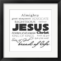 Framed Jesus Christ White