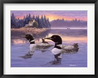 Framed Loon Lake