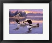 Framed Loon Lake
